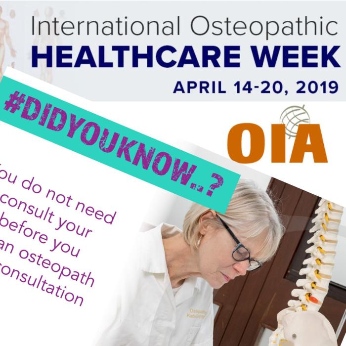 International Osteopathic Healthcare Week