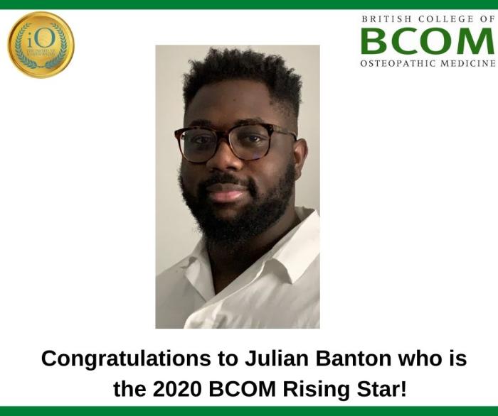 Congratulations to Julian Banton, BCOM winner of the iO Rising Star Award!