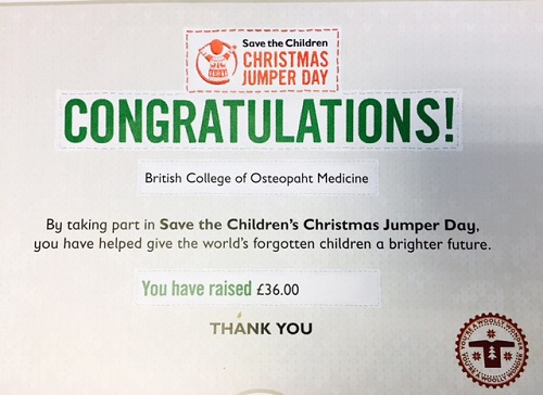 BCOM raised £36 for Save the Children Christmas Jumper Day!