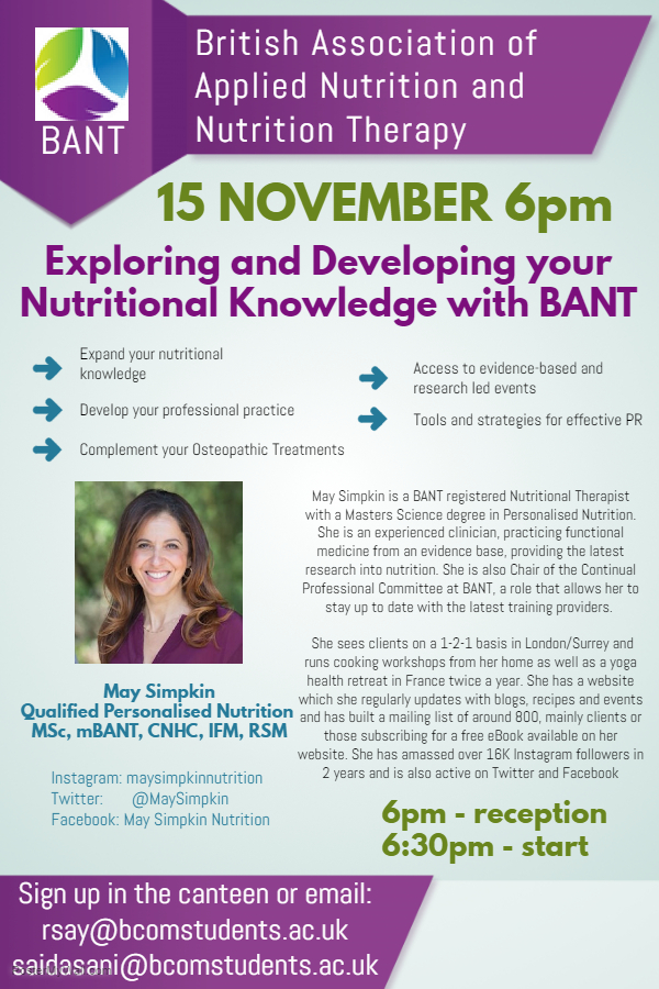 Nutritional Knowledge Guest Lecture