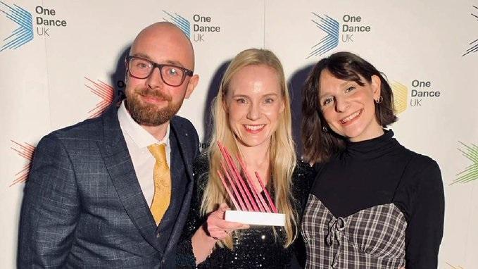 Karolin Krell wins 'Dance Healthcare Team Award'