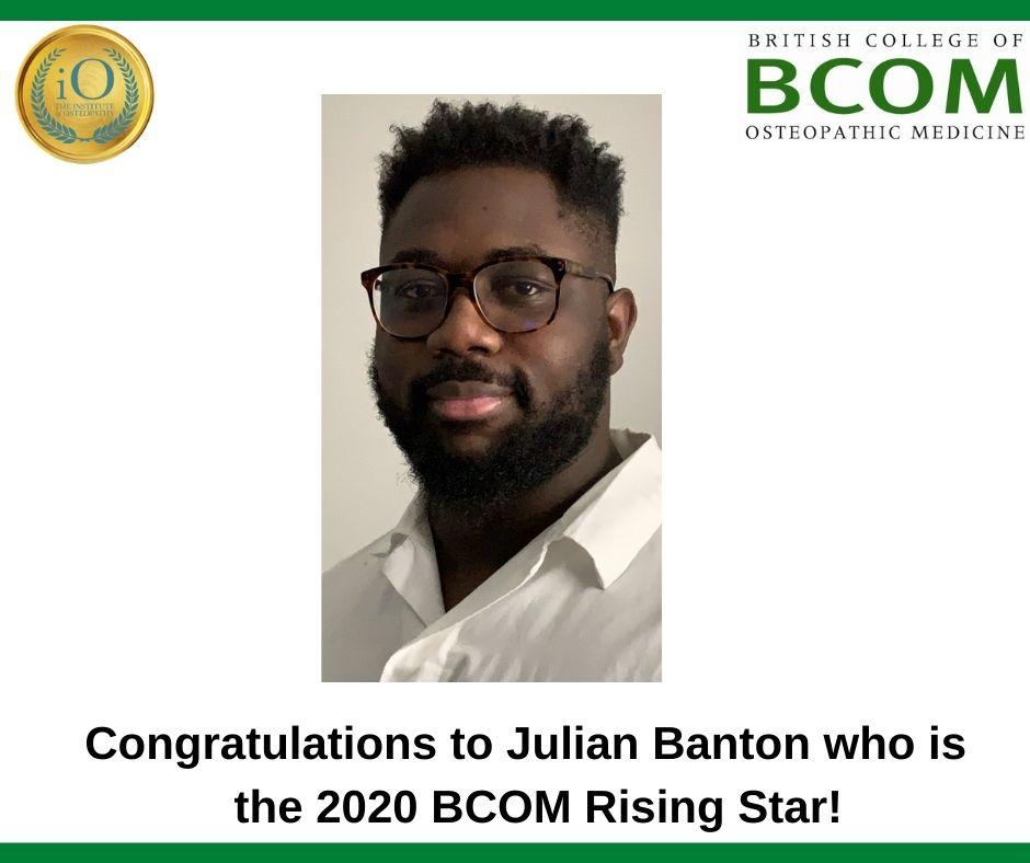 Congratulations to Julian Banton, BCOM winner of the iO Rising Star Award!